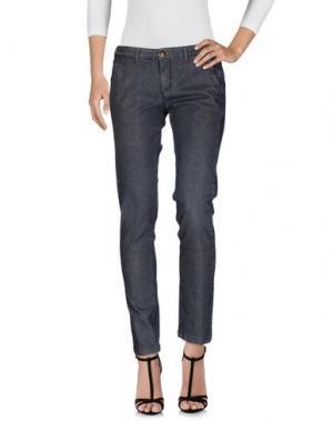 Джинсовые брюки BARBA Napoli. Цвет: свинцово-серый