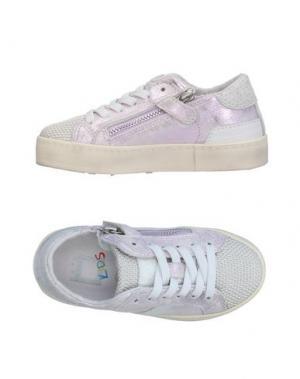 Низкие кеды и кроссовки D.A.T.E. KIDS. Цвет: фиолетовый
