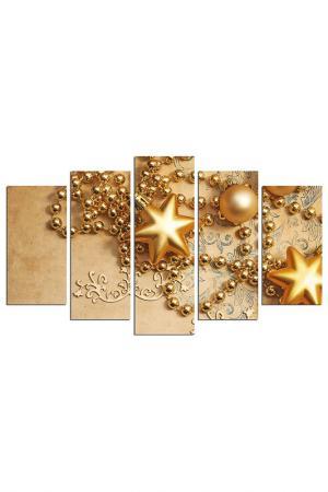 Декоративное панно CHRISTMAS - DECORATION. Цвет: бежевый