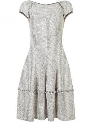 Расклешенное платье Talbot Runhof. Цвет: телесный
