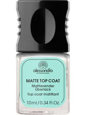 Матовое верхнее покрытие для лака Matte top coat alessandro. Цвет: молочный