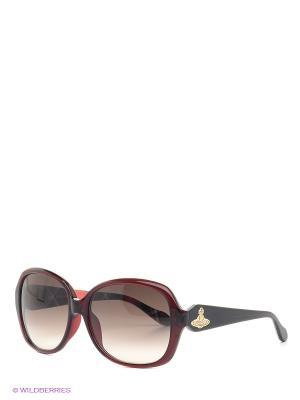 Очки Vivienne Westwood. Цвет: бордовый, коричневый