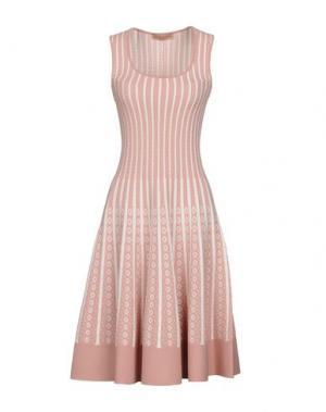 Платье до колена VICEDOMINI. Цвет: пастельно-розовый