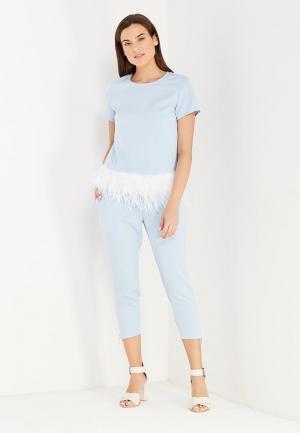 Комплект блуза и брюки Mazal. Цвет: голубой
