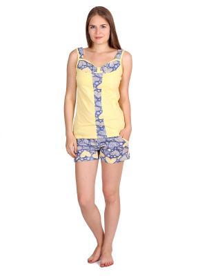 Пижама Flip. Цвет: желтый