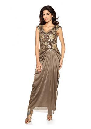 Вечернее платье ASHLEY BROOKE by Heine. Цвет: серо-коричневый, темно-синий