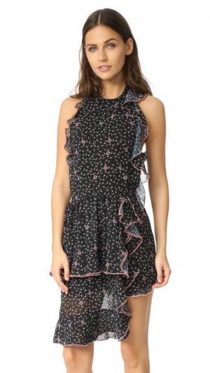 Платье Louie Sandy Liang. Цвет: цветочный