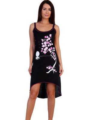 Ночная сорочка Паттайя Натали. Цвет: черный