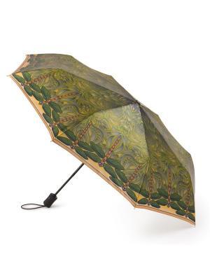 Зонт женский автомат Henry Backer Стрекозы. Цвет: зеленый