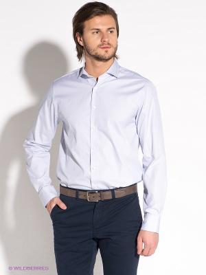 Рубашка Tommy Hilfiger. Цвет: белый, синий
