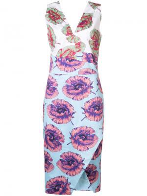 Облегающее платье с цветочным принтом Altuzarra. Цвет: многоцветный