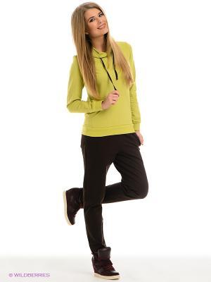Спортивный костюм Runika. Цвет: салатовый, коричневый
