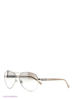 Солнцезащитные очки BURBERRY. Цвет: серебристый