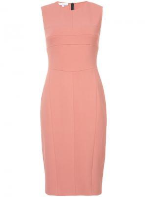 Платье миди с панельным дизайном Narciso Rodriguez. Цвет: розовый и фиолетовый