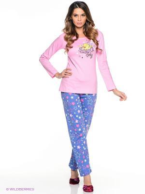 Комплект Vienetta Secret. Цвет: фиолетовый, розовый