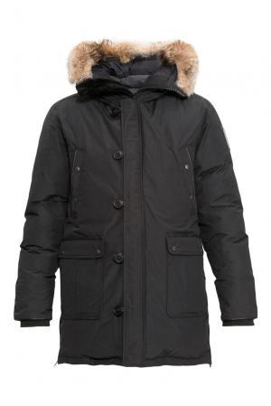 Парка-пуховик с мехом 155982 Arctic Bay. Цвет: черный