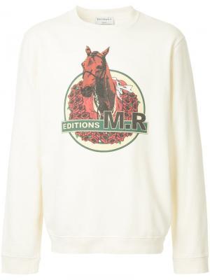 Толстовка с принтом лошади Éditions M.R. Цвет: телесный