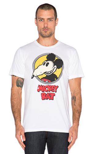 Футболка с рисунком mickey rat Altru. Цвет: белый