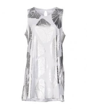 Короткое платье MALPH. Цвет: белый
