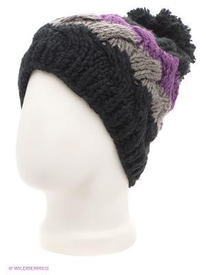 Шапка Maxval. Цвет: черный, темно-серый, фиолетовый