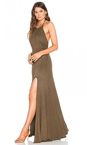 Платье nikki De Lacy. Цвет: зеленый