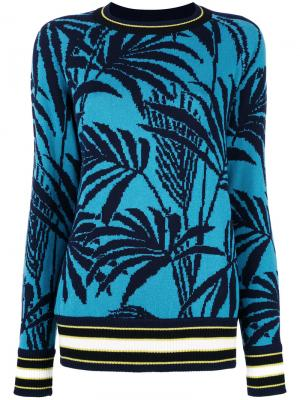 Джемпер с пальмами Antonia Zander. Цвет: синий