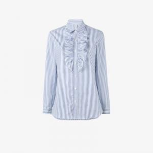 Полосатая рубашка с длинными рукавами Marie Marot. Цвет: синий