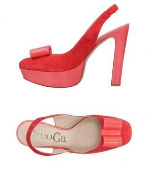Туфли PACO GIL. Цвет: коралловый