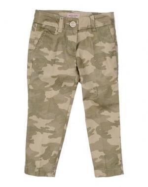 Повседневные брюки MONNALISA. Цвет: зеленый-милитари