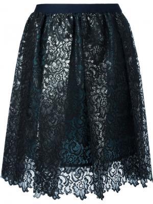 Кружевная юбка Kolor. Цвет: чёрный