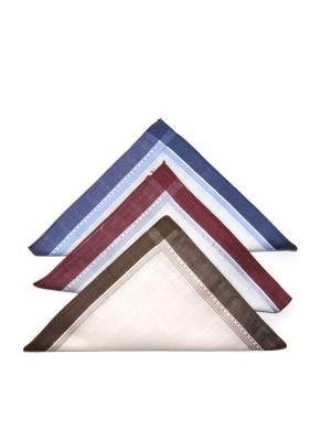 Носовой платок, 3 шт Lola. Цвет: синий, бордовый, молочный