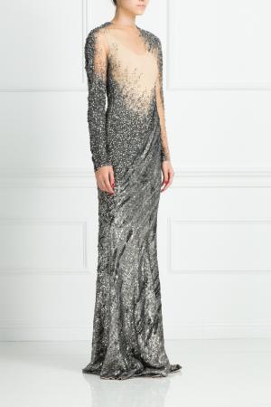 Шелковое платье Kaufmanfranco. Цвет: серебряный