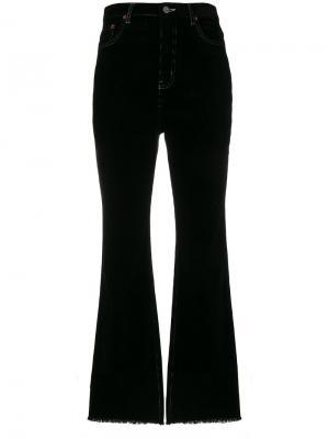 Укороченные брюки клеш Neul. Цвет: чёрный