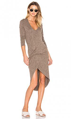 Платье edith Riller & Fount. Цвет: коричневый