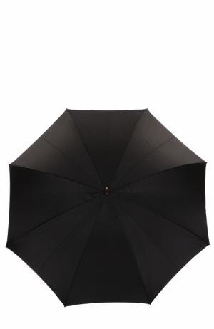 Зонт-трость с принтом Pasotti Ombrelli. Цвет: черный