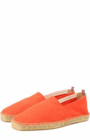 Текстильные эспадрильи на джутовой подошве Castaner. Цвет: оранжевый
