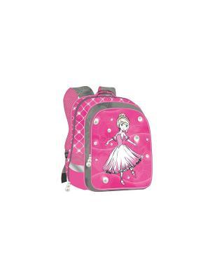 Ранец Super bag Принцесса-балерина ортопедическая спинка Limpopo. Цвет: розовый