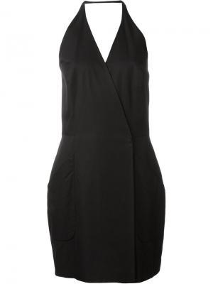 Платье с вырезом-халтер Stephen Sprouse Vintage. Цвет: чёрный