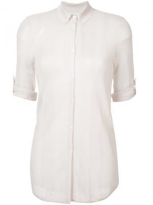 Рубашка с короткими рукавами Gabriela Hearst. Цвет: розовый и фиолетовый