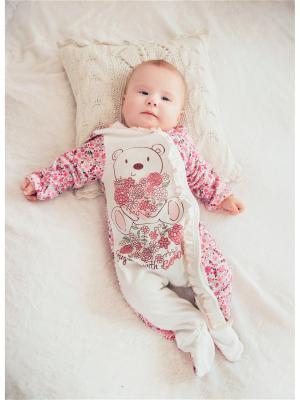 Комбинезон нательный для малыша Жанэт. Цвет: молочный