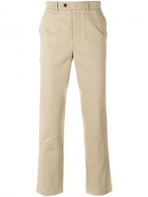 Классические брюки чинос Officine Generale. Цвет: телесный