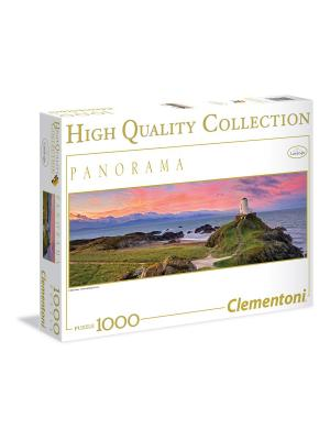 Clementoni. Пазл Маяк на краю земли. Серия Панорама. 1000 элементов Clementoni. Цвет: белый, зеленый, желтый