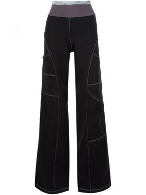 Широкие брюки Musée. Цвет: чёрный