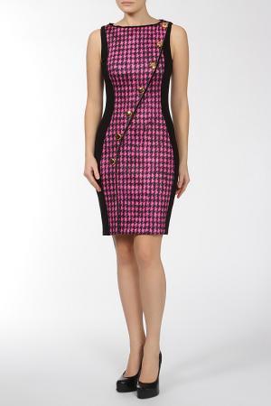 Платье Maria Grazia Severi. Цвет: розово-черный