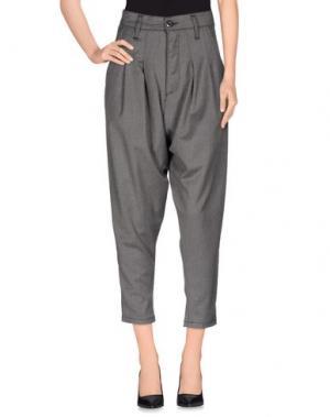 Повседневные брюки MNML COUTURE. Цвет: серый