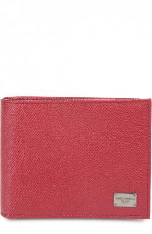 Кожаное портмоне с отделениями для кредитных карт и монет Dolce & Gabbana. Цвет: красный