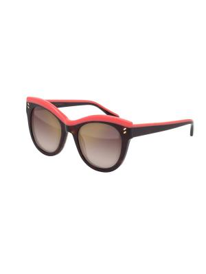 Солнцезащитные очки Stella McCartney. Цвет: темно-коричневый, коричневый