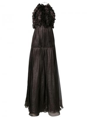 Платье Malati Maria Lucia Hohan. Цвет: коричневый