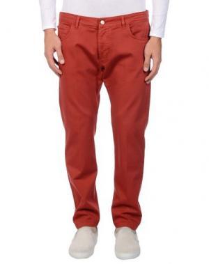 Повседневные брюки ENTRE AMIS. Цвет: ржаво-коричневый