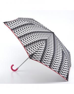 Зонт механический Милан  by Fulton Lulu Guinness. Цвет: серый
